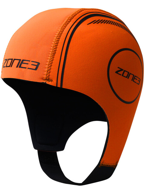 Zone3 Neoprene Swimming Cap hi-vis orange